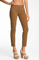 7 For All Mankind 'Roxanne Flood' Skinny Stretch Jeans (Cognac)