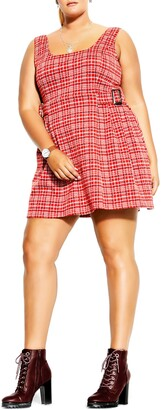 City Chic Plaid Minidress