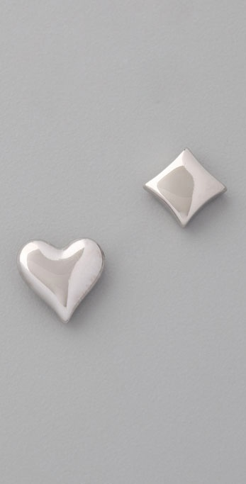 Marc by Marc Jacobs House of Cards Heart & Diamond Bubbly Stud Earrings