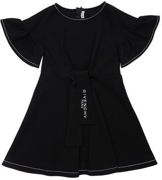 Givenchy Logo Print Cotton Blend Jersey Dress