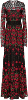 Naeem Khan Floral Embroidered Gown