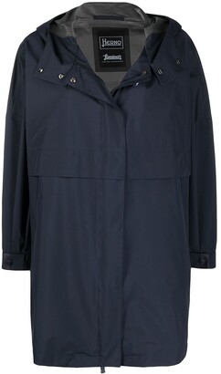 Herno A-line hooded raincoat