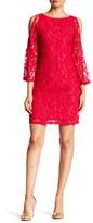 Adrianna Papell Cold Shoulder Dress (Regular & Petite)