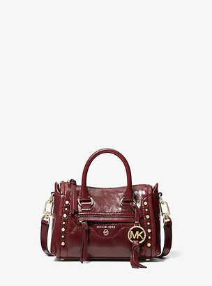 Michael Kors Carine Extra-Small Studded Crinkled Leather Crossbody Bag