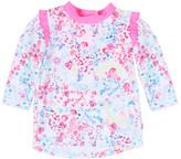 Bebe by Minihaha Girls Ivy L/S Frill Zip Rash Vest (6 - 24M)