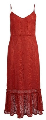 Dorothy Perkins Womens **Vila Red Lace Camisole Midi Dress, Red