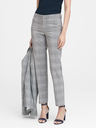 Banana Republic Ryan Slim Straight-Fit Washable Plaid Pant