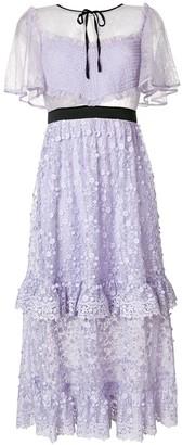 Three floor Violette floral embroidered dress