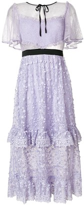 Three floor Violette floral embroidered dress