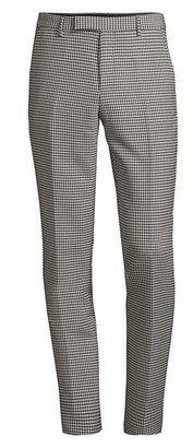 Paul Smith Houndstooth Virgin Wool-Blend Trousers