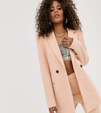 Asos Tall DESIGN tall suit blazer in camel-Beige