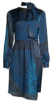 Elie Tahari Women's Alara Leopard-Print Patchwork Dress