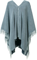 Chloé fringed poncho - women - Cotton - XS/S