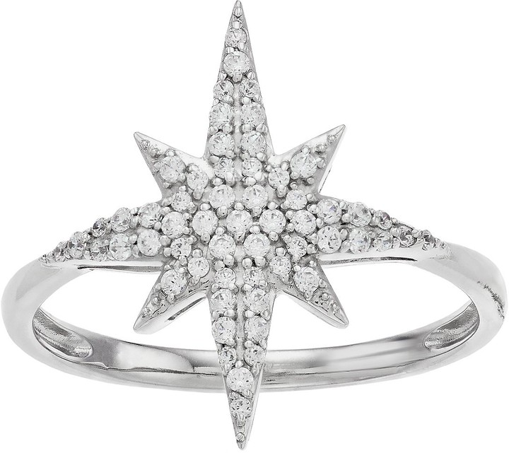5e91a9ce2848a Simply Vera Sterling Silver 1/4 Carat T.W. Diamond Starburst Ring