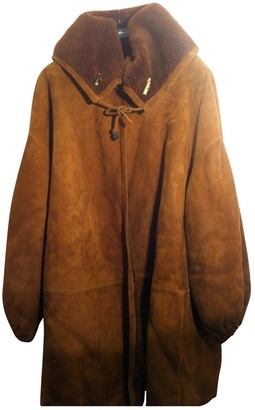 Fendi Brown Shearling Coat for Women Vintage