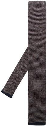 Brunello Cucinelli Intarsia Knit Cashmere Tie