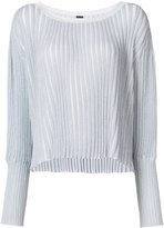 ADAM by Adam Lippes metallic ribbed-knit sweater