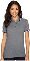 Lacoste Short Sleeve Semi Fancy Stretch Mini Pique Polo Women's Clothing