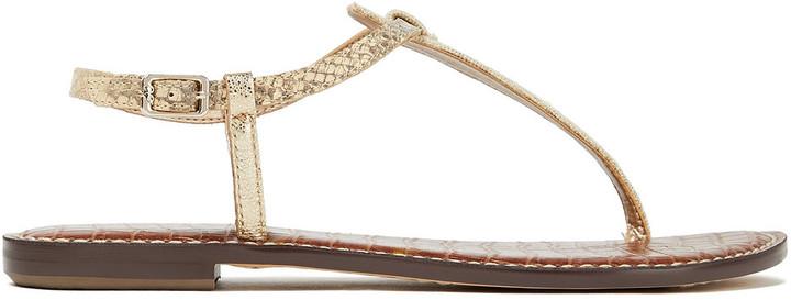 Sam Edelman Gigi Metallic Canvas And Snake-effect Leather Sandals