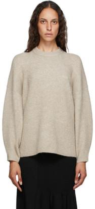 3.1 Phillip Lim Taupe Wool Crewneck Sweater