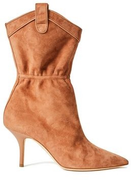 Malone Souliers Daisy 70 Leather-trimmed Suede Ankle Boots