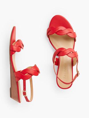 Talbots Capri Twist Mini Wedge Sandals - Nappa Leather