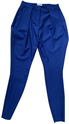 Vionnet Blue Wool Trousers for Women