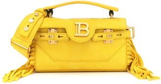 Balmain B-Buzz 19 suede shoulder bag