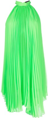 Styland Pleated Rear-Tie Dress