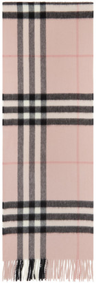 Burberry Pink Check Cashmere Giant Scarf