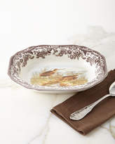 Spode Woodland Open Vegetable Serving Dish with Snipe Birds