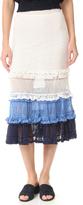 Jonathan Simkhai Ruffle Crochet Midi Skirt
