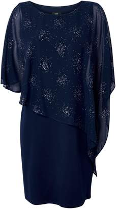 Wallis Navy Sparkle Overlay Dress
