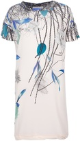 Cacharel leaf print shift dress
