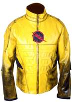 Flesh & Hide F&H Men's Reverse Flash Eobard Thawne Zoom Lightning Leather Jacket S
