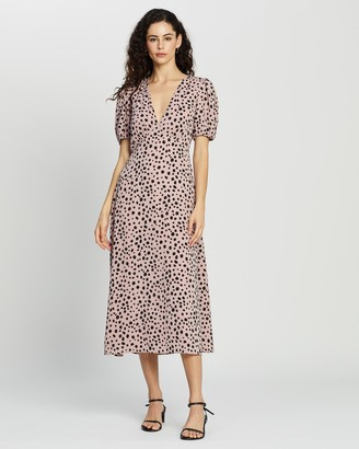 Atmos & Here Atmos&Here - Women's Pink Midi Dresses - Cora Midi Dress - Size 6 at The Iconic