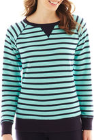 JCPenney Made For Life Long-Sleeve French Terry Striped Sweatshirt