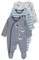 Disney George Mickey Mouse 3 Pack Sleepsuits