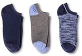 Merona Women's Low-Cut Socks 3-Pack Xavier Navy Texture One Size