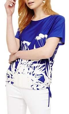 Phase Eight Fabiola Floral Print Top, Azure/White