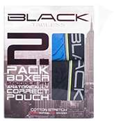 Andrew Christian Men's Black Collection Cotton Boxer 2-Pack