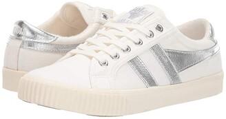 Gola Tennis - Mark Cox (Off-White/Dark Green) Women's Shoes