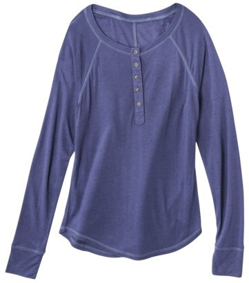 Mossimo Junior's Long Sleeve Henley - Assorted Colors