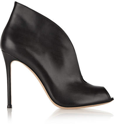 Gianvito Rossi Vamp 105 Leather Ankle Boots - Black