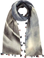 Jigsaw Sally Faded Pom Scarf, Blue
