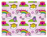 Little Miss Childrens Girls Rainbow Fleece Blanket (120x150cm) (Pink)