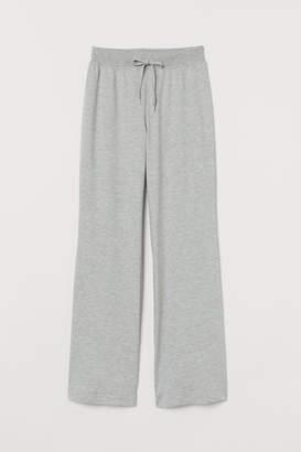 H&M Wide-cut Sweatpants - Gray