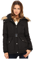 Jessica Simpson Belted Polybonded with Faux Fur