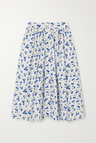 Thumbnail for your product : HVN Hope Print Stretch-cotton Poplin Skirt - White
