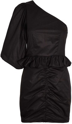 Shona Joy Grant One-Shoulder Mini Dress